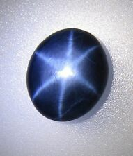 5.50 ct+ TOP QUALITY SHARP 6 Rays Star Blue SAPPHIRE Africa Oval Cabochon Stone