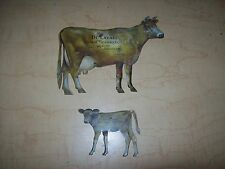 Early  DE LAVAL CREAM SEPARATOR Tin Litho Advertising JERSEY COW + CALF-Farm