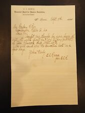E.S. Rowse Financial Agent for Eastern Capitalists Letterhead Letter 1888