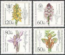 Germany 1984 Orchids/Flowers/Plants/Nature/Welfare Fund 4v set (n28267)