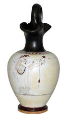 Ancient Greek White Oinochoe Vase Museum Replica Reproduction