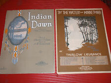 ANTIQUE SHEET MUSIC INDIAN DOWN & BY THE WATERS OF MINNETONKA