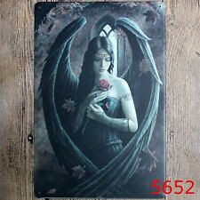Metal Tin Sign gothic sexy girl Bar Pub Home Vintage Retro Poster Cafe ART