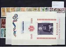 MONACO Année Complète 1989 Yvert n° 1663/1704 neuf sans charnière MNH