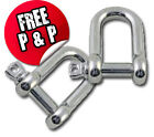 2 x 6mm D Shackle Stainless Steel (Dee Shackle, Marine Shackle, fasteners)