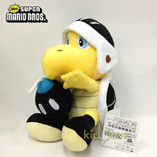 "New Super Mario Bros. Plush Black Bomb Koopa Troopa Soft Toy Teddy Doll 8"" NWT"