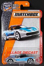 2017 Matchbox #64 '15 (Chevy®) Corvette® Stingray™ BLADE SILVER/POLIZEI/MOC