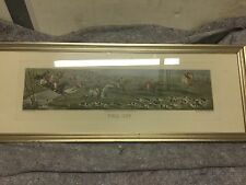 Henry Alken Etching Full Cry Aquatinted By T. Sutherland, Framed