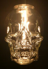 CRYSTAL HEAD VODKA SKULL BOTTLE EMPTY HANGING CEILING LIGHT FIXTURE 120V RED LED