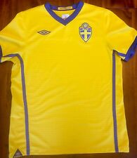 Umbro Sweden Home 2010-2012 National Soccer Jersey Men's Medium Camiseta Sverige