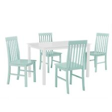 Walker Edison Greyson 5-Piece Dining Set - White/Sage