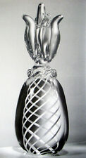 NEW in BOX STEUBEN glass LARGEST PINEAPPLE crystal ornament pine apple fruit