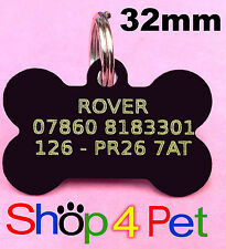 Pet ID Tag 32mm Aluminium Dog Tags Engraved Free with YELLOW infill Engraving