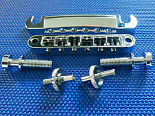 Gibson USA Les Paul  Tune-O-Matic Bridge Tailpiece and Studs Chrome Studio Parts