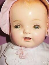 VINTAGE COMPOSITION MADAME HENDREN BABY HENDREN DOLL ORIG CLOTHING & BIB