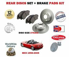 Per Mazda mx5 + EUNOS 1.6 1.8 1998-2005 Dischi Freno Posteriore 276mm KIT PASTIGLIE Set +