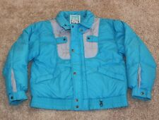 vtg SNOW SKI JACKET Men's Small S sz 38 ALTITUDE PEDIGREE 80's snowmobile blue