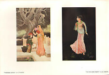 1902 STUDIO PRINT ~ PRINCESS LOTUS ~ IN THE DARK KNIGHT by A. TAGORE