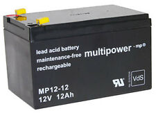 Blei-Gel Akku Multipower MP12-12 Batterie 12V 12Ah 4,8mm NP12-12 FG21202 Accu
