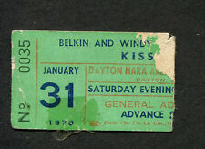 1976 Kiss concert ticket stub Dayton OH Dressed To Kill Rock and Roll All Nite