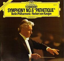 2530 774 KARAJAN tchaikovsky symphony no 6 pathetique uk dgg 1977 LP PS EX/EX