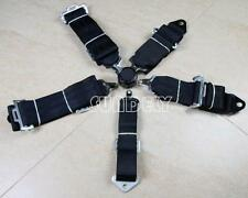 """SUNDELY 3"""" Inch 4 5 POINT QUICK RELEASE SEAT BELT HARNESS BLACK"""