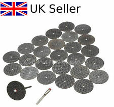 25PCS Resin Cutting Wheel Disc Set Kit Accessory Mandrel For Dremel Rotary Tool