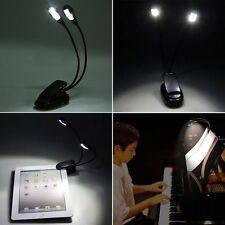 Protable Battery/USB Led Clip on Book Reading Light Lamp Flexible Gooseneck Lamp