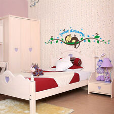 Home Decor Sweet Dream Monkey Removable Wall Sticker Decal Kid Baby Nursery Room