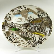 W H Grindley DICKENS COACHING STAGES Oval Serving Platter England