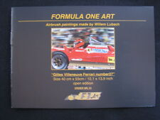 Catalogue Formula One Art airbrush paintings made by Willem Lubach