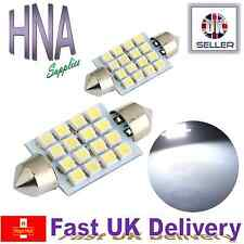2 x 42mm Festoon 264 C5W 16 SMD LED Pure White Car Interior Dome Bulb Skoda