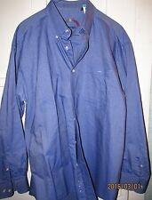 Harvie &Crosbie Oxford Blue button Down Long sleeve shirt Size Large