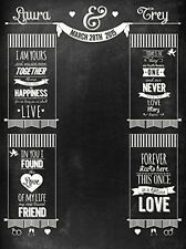 Custom Chalkboard Wedding Event Backdrop 6'x8' For Photo Booth Or Engagement Or
