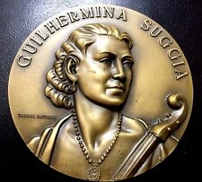 MUSIC CLASIC / CELLIST / GUILHERMINA SUGGIA / BRONZE MEDAL BY ANTUNES / N104