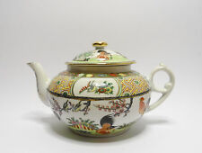 Antique Chinese Famille Rose Canton Rooster Porcelain Teapot