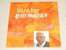 Rod McKuen Listen to the Warm 1967 RCA LSP-3863 SPOKEN WORD EASY LISTENING SS LP