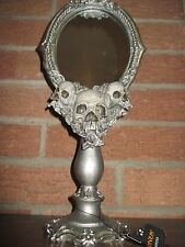 "NWT! Large Skull/Skeleton Mirror, Looking Glass,15.5"", Halloween Prop/Decoration"