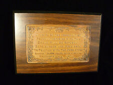 FUNNY CHURCH ORGAN 'KEEP YOUR HANDS OFF' REPRIMAND PLAQUE DATED 1871
