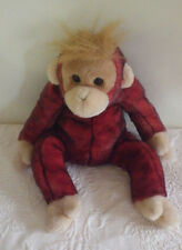 "Ty Beanie Buddies Sweetheart Monkey Plush Stuffed Animal 14"" Tall"