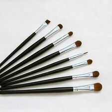 8 Pc Beautydec Cosmetic Eye Shadow Eyeliner Black Travel Makeup Brushes New