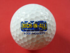 Golfball mit Logo RICH IN ALL Food Products Logoball Glücksbringer Andenken ...