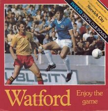 Watford v Norwich 9th October 1982 - Official Matchday Programme