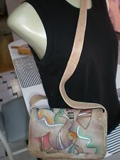 Wearable Art Colorful Hand-painted Leather Shoulder Bag/ Handbag MADE IN INDIA