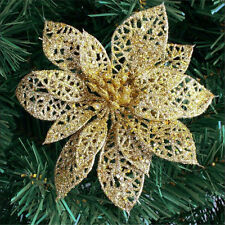 Christmas Flowers Xmas Tree Glitter Hollow Flash Wedding Party Home Decor. D2931