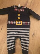 NEXT BABY BOY CHRISTMAS ELF ALL IN ONE SIZE 6-9 MONTHS VGC