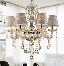 Contemporary Modern Crystal Chandelier Pendant Ceiling Light Fixture 6 lights