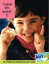 PUBLICITE ADVERTISING 025  1991  KIRI  fromage pour gastronomes
