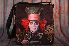 Disney Alice in Wonderland Cross Body Purse W/ Johnny Depp as the Mad Hatter HTF