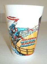Vintage 1977 Captain America Plastic Cup w/ Red Skull 7-11 Marvel Comics Group